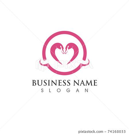 Swan logo and symbol vector image 74168033
