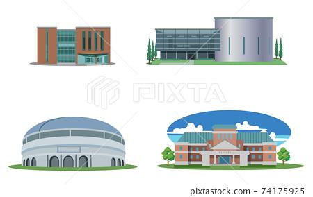 大樓設置-圖書館-多功能廳-全天候圓頂-博物館 74175925