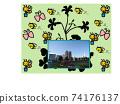 초원과 클로버와 심볼 프롬나드 공원 74176137