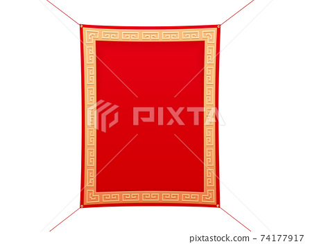 3d luxury hanging fabric banner 74177917