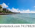 夏威夷威基基海灘的日冕數量減少 74178828