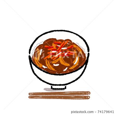 牛肉碗的插圖 74179641