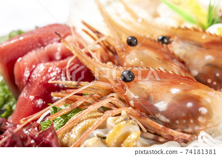Assorted gorgeous, fresh and delicious sashimi 74181381