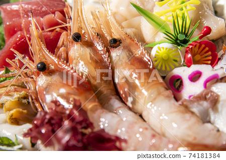 Assorted gorgeous, fresh and delicious sashimi 74181384