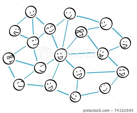 막대기 인간 관계의 네트워크 74182695