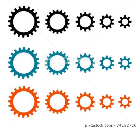 톱니 바퀴 아이콘 변형 세트 74182710