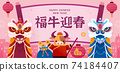 2021 CNY lion dance banner 74184407