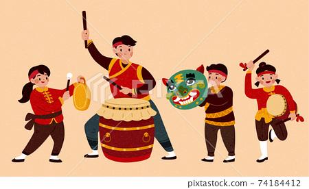 Chinese music performance element 74184412
