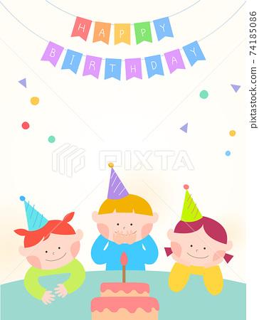 收集可愛的兒童插圖08 74185086