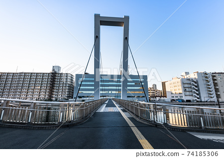 Pedestrian / bicycle bridge Shiokaze Bridge 74185306