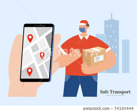 Safe and clean shipping with mask 74185444