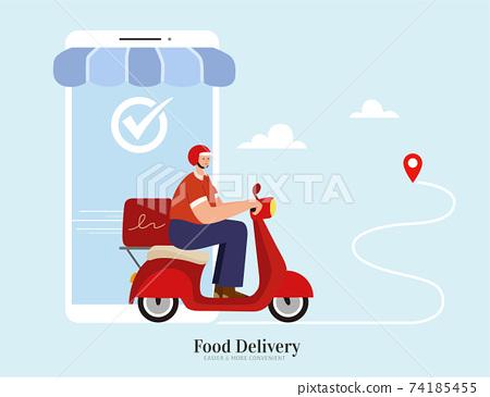 Local food delivery service via APP 74185455