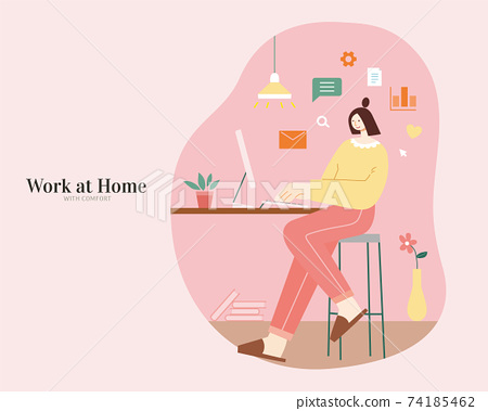 Work from home with comfort 74185462