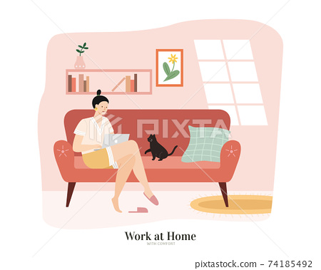 Stay at home and work from home 74185492