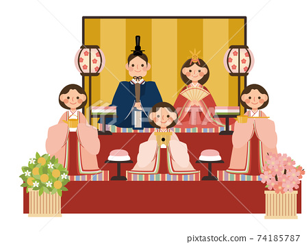Hinamatsuri Hina娃娃,三名官方女士 74185787