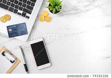辦公室 信用卡 手機 金幣 電子商務 Office Credit card coin スマホ 74192100