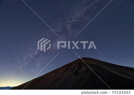 宝永山에서 보는 후지산 정상과 은하수 74193893