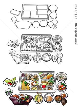 Kaiseki lunch box 74195398