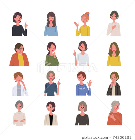 다양한 세대의 여성 어른 일러스트 74200183