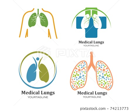 human lungs logo icon vector illustration design 74213773