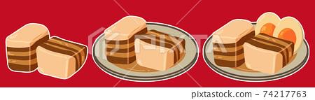 Kakuni豬肉套裝(帶白色邊框) 74217763