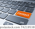 與我們聯繫鍵盤按鈕 74219538