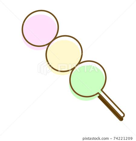 Three-color dumpling graphic alone 74221209