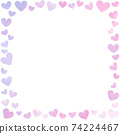 card Frame Border with hand draw love pattern 74224467