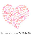 Cute and lovely heart pattern 74224470