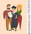 Graduation Congratulations vector illustration 74230535