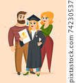 Graduation Congratulations vector illustration 74230537