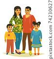 Happy family, vector illustration 74230627