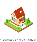 Icon House in isometric style, vector illustration 74230631