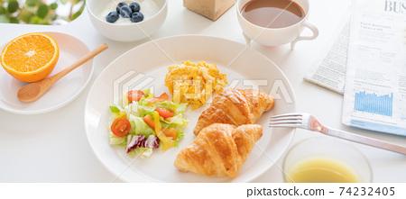 早餐橫幅尺寸 74232405