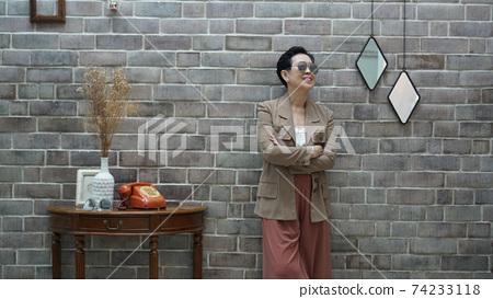 Asian senior elder woman living financial freedom wellness at retirement 74233118