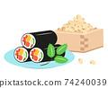 Ehomaki和豆的Setsubun插圖 74240039