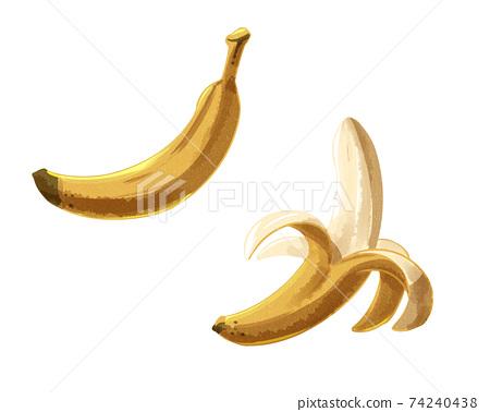 水彩風格香蕉 74240438