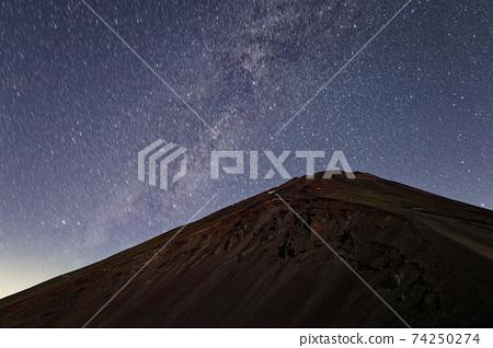 宝永山에서 보는 후지산 정상과 은하수 74250274