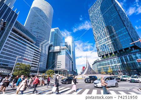 《Aichi Prefecture》 Nagoya station square, business district 74251950