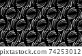 Seamless pattern with halftone dots in vortex form. Geometric art eps10 vector. 74253012