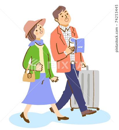 一對夫婦去旅行 74253445
