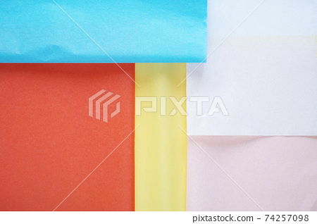 Colorful background of soft flower paper that overlaps neatly 74257098