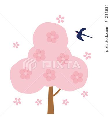 Material-Sakura tree 74258634