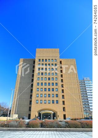 [德島縣]天氣晴朗的德島縣政府大樓 74264085