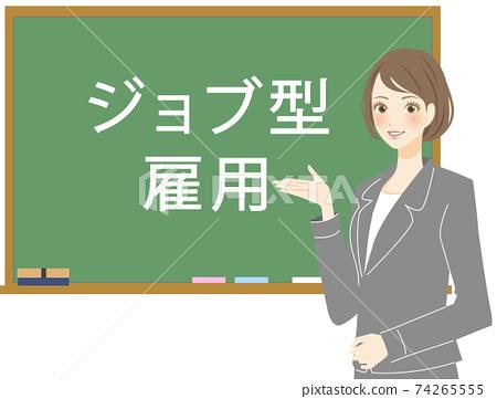職業女性解釋基於工作的就業製度 74265555