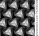 Vector Abstract Stippled Seamless Patterns 74268208