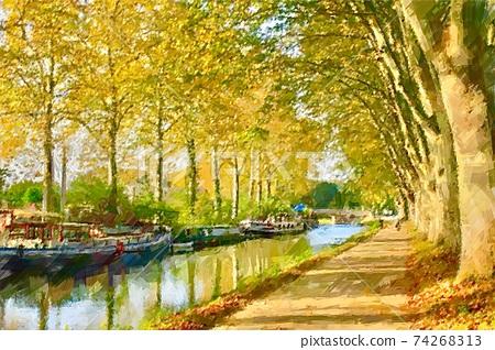 秋季沿法國河 74268313
