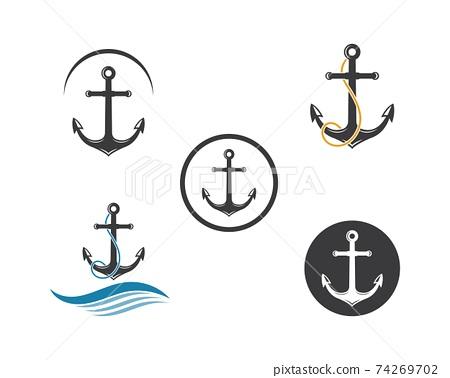 Anchor icon Logo Template vector 74269702