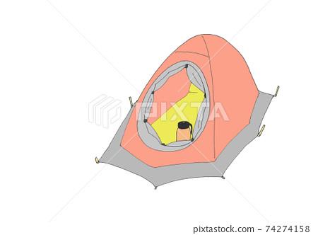 雪山帳篷背景透明 74274158