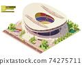 Vector isometric stadium building 74275711